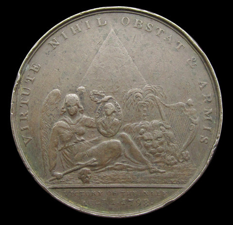 1798 Battle Of The Nile Entry Into Rome 38mm Medal - By Wyon