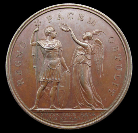 1802 Peace Of Amiens St Paul's Cathedral 49mm Medal - By Hancock
