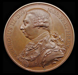1798 British Victories 48mm Copper Medal - By Kuchler
