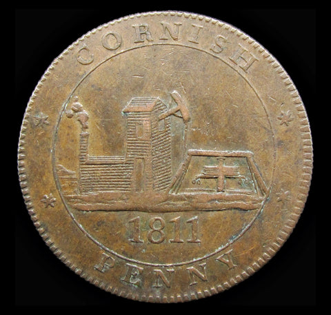 1811 Cornwall For Accommodation Cornish Penny Token - VF
