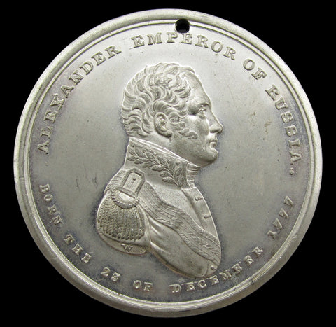Russia 1814 Alexander I Emancipator Of Europe 43mm Medal - By Wyon