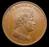 1821 George IV Coronation & Visit To Hanover 40mm Medal - By Voigt