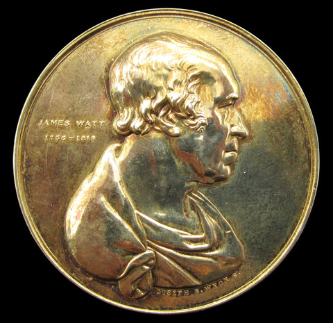 1828 Institution Of Civil Engineers Silver Gilt Watt Medal - By Wyon