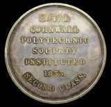 1833 Royal Cornwall Polytechnic Society Silver Cased Medal - By Wyon