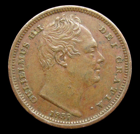 William IV 1837 Half Farthing - GVF