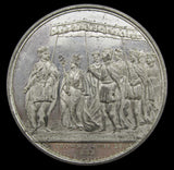 1838 Coronation Of Victoria White Metal Medal - By Barber