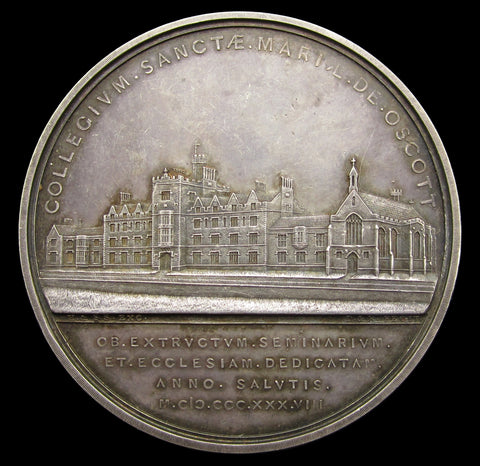 1838 St Mary's College New Oscott 56mm Silver Medal