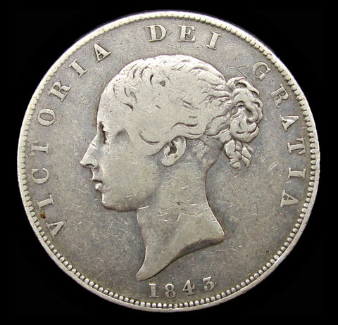 Victoria 1843 Halfcrown - Good Fine