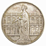 1844 Opening Of The Royal Exchange 74mm Silver Medal - By Wyon