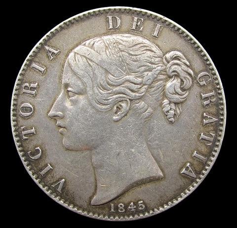 Victoria 1845 Crown - VF
