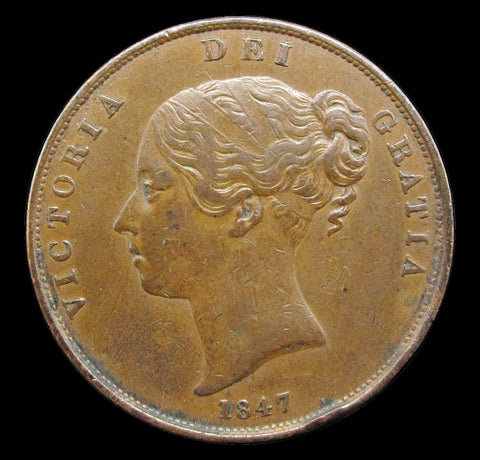 Victoria 1847 Penny - No Colon 'Pattern' - GVF