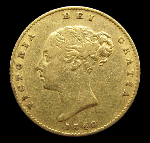 Victoria 1848/7 Half Sovereign - VF