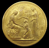 1851 Great Exhibition Prize Medal By Wyon - Gilt Uniface Cliche