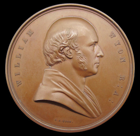 1854 William Wyon Art Union Of London 56mm Medal - By Wyon
