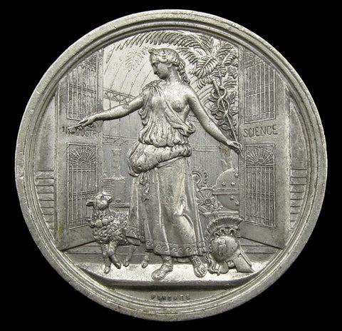 1854 Crystal Palace Exhibition Sydenham 41mm Medal - By Pinches