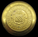 1857 Exhibition Of Art Treasures 63mm White Metal Medal - In Brass Shells
