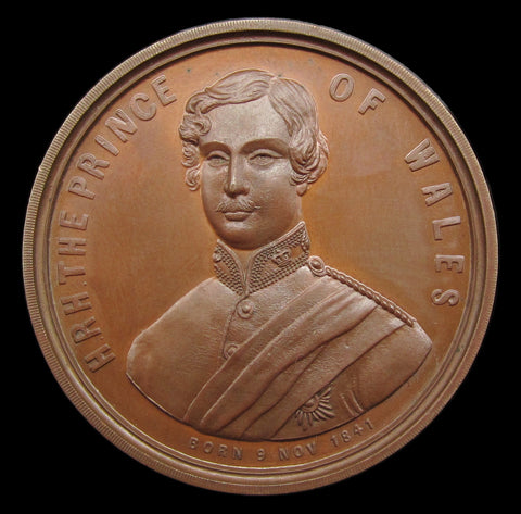 Canada 1860 Opening of Victoria Bridge Bronze Medal - Edward Prince of Wales