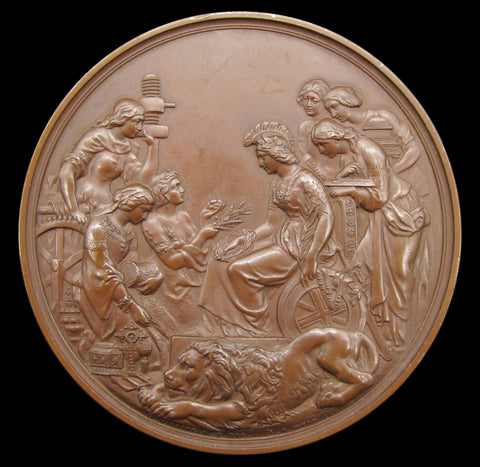 1862 International Exhibition 77mm Prize Medal - By Wyon