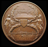 1869 Opening of Blackfriars Bridge And Holborn Viaduct Medal - By Adams