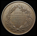 1884 London International Exhibition Crystal Palace Medal