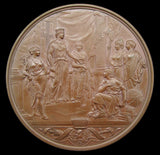 1884 Guildhall New Council Chamber Cased Bronze Medal - By Wyon