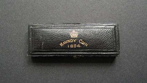 1884 Dated Hard Case For 4 Coin Maundy Set
