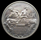 1885 International Inventions Exhibition 45mm Silver Medal - By Wyon