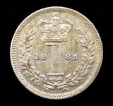 Victoria 1885 Maundy Penny - GEF