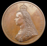 1887 Victoria Jubilee 77mm Bronze Medal By Boehm - Cased