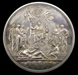 1887 Victoria Jubilee 77mm Silver Medal By Boehm - Cased