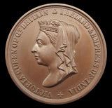 Victoria 'Born 1819 Crowned 1838' 38mm Bronze Medal - GEF