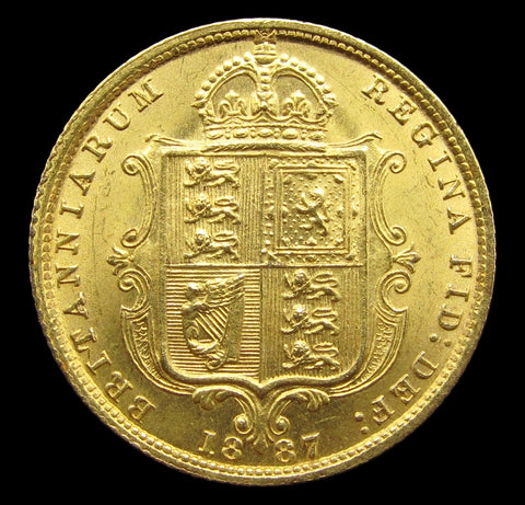 Victoria 1887 Gold Half Sovereign - GEF
