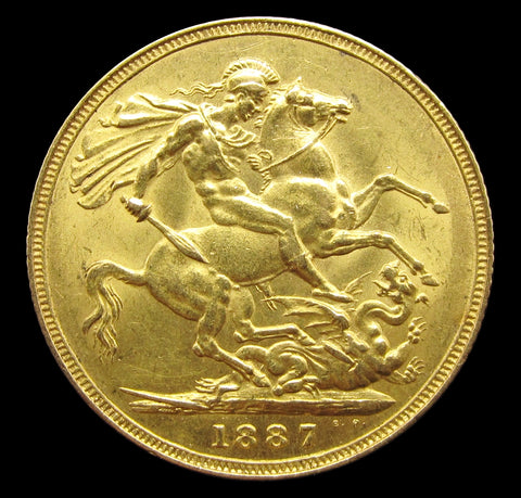 Victoria 1887 Gold Sovereign - EF