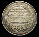 Belgium 1888 International Exhibition Silvered Bronze Medal - UNC