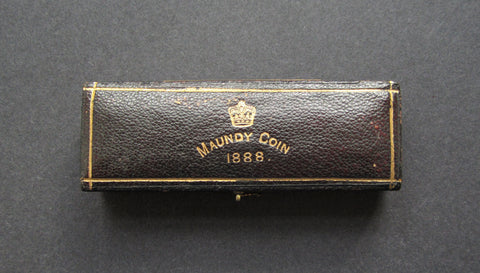 1888 Dated Hard Case For 4 Coin Maundy Set