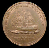 1897 Lord Nelson's Flagship Foudroyant 37mm Copper Medal - Cased