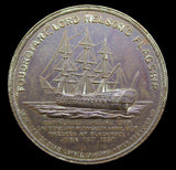 1897 Lord Nelson's Flagship Foudroyant 37mm Copper Medal