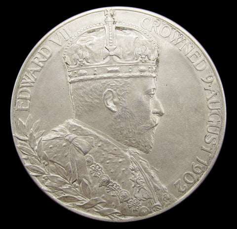 1902 Edward VII Coronation 55mm Silver Medal - Cased