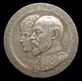 1902 Coronation of Edward VII 35mm Silver Medal - By Frampton