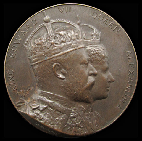 1902 Coronation of Edward VII 39mm Bronze Medal - By Fuchs