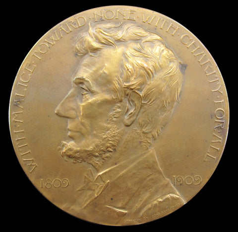 USA 1909 Abraham Lincoln Grand Army Of The Republic 76mm Medal