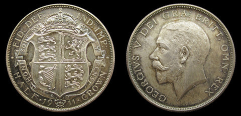 George V 1911 8 Coin Proof Set - Halfcrown to Maundy - FDC
