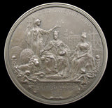 1911 Coronation Of George V 63mm Silver Medal - By Bowcher
