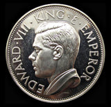 Edward VIII 1936 Silver Proof Fantasy Crown - By Hearn