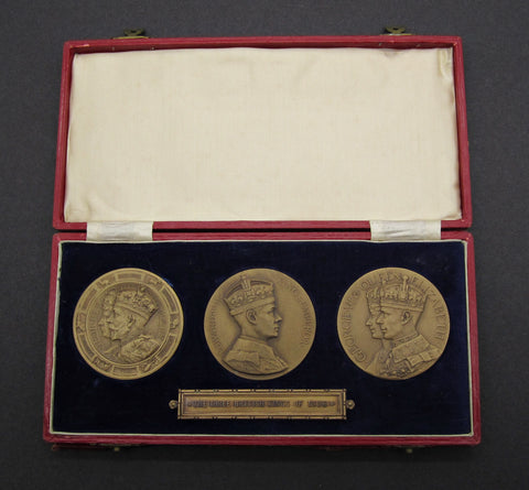 1936 Year Of The Three Kings Set Of 3 Medals - Cased