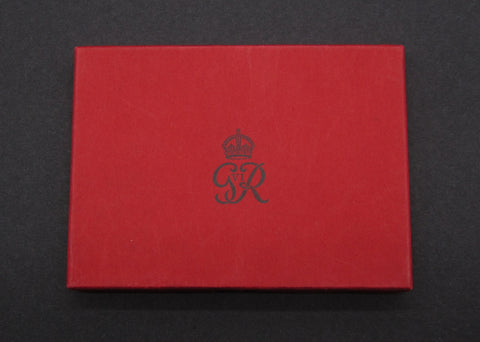 1937 Royal Mint Card Case For George VI 4 Coin Gold Proof Set