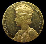 1937 George VI Coronation 32mm Gold Medal - Cased