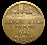 1948 London Olympics 38mm Bronze Prototype Medal - By Pinches