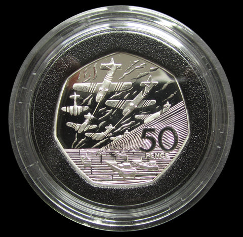 Elizabeth II 1994 D-Day Anniversary Silver Proof 50p - Cased