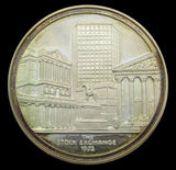 1972 New Stock Exchange Silver Brokers Pass Medal - Cased